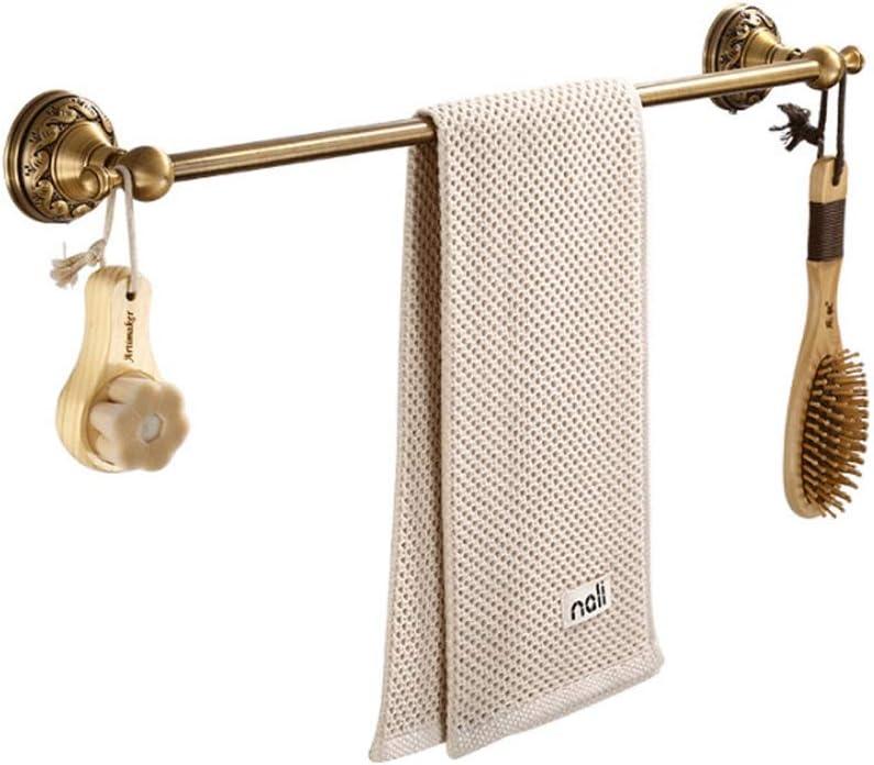 Thwarm Los baños de toallas Rieles de aluminio del espacio montado en la pared sostenedor de la toalla toalla individual Plataforma for la cocina baños muebles de época barra de toalla barra de colgar
