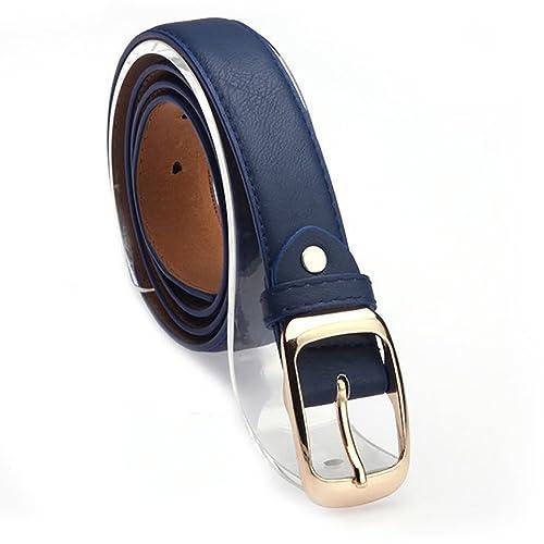 iShine Mujer Moda Casuales Cinturón Accesorios Vintage Piel Sintética Correa Hebilla Cinturones Cint...