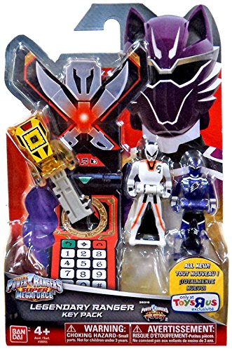 Power Rangers Super Megaforce - Jungle Fury Legendary Ranger Key Pack, Yellow/White/Purple (Power Ranger Jungle Fury Zords)