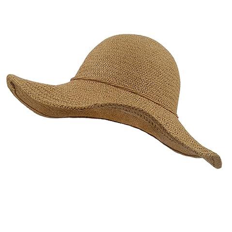 294f82188ff LETHMIK Summer Beach Straw Hat Womens Wide Brim Floppy Packable Sun Hat