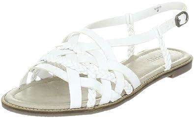 fefb78b6b ESPRIT Hilde Braided Sandal Fashion Sandals Womens White Weiss (white 100)  Size  4