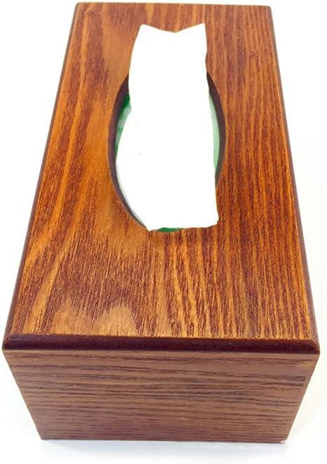 Braunes Rechteck FLAMEER Kosmetikt/ücherbox Holz Kosmetikbox Taschentuchbox Kosmetiktuchspender 23x12x10cm