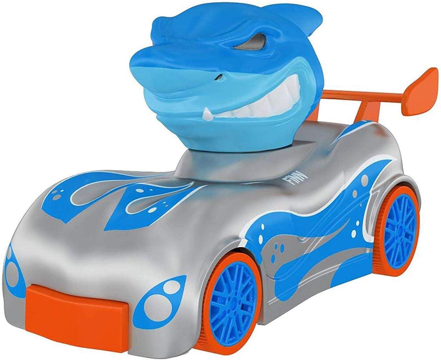 Knuckle Headz Duo Head Poppin Quick Shot Pull Back Crash Derby Racers Finn The Shark and Rex The Dinosaur