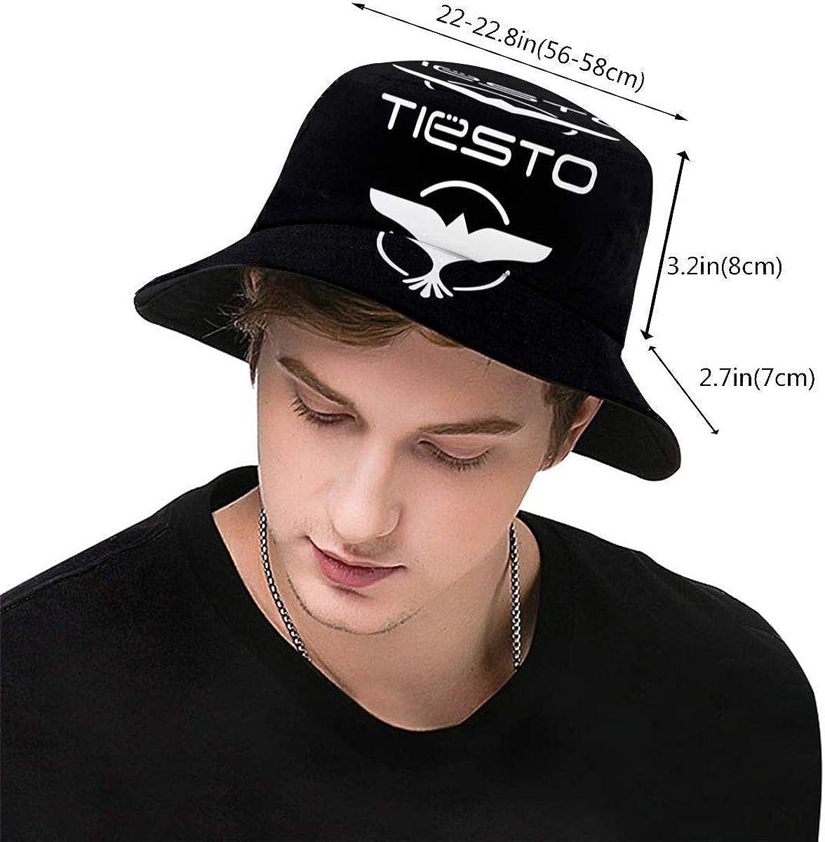 XBYC Fashion Tiesto Print Bucket Hat Summer Reversible Packable Cap Fisherman Cap for Men Women