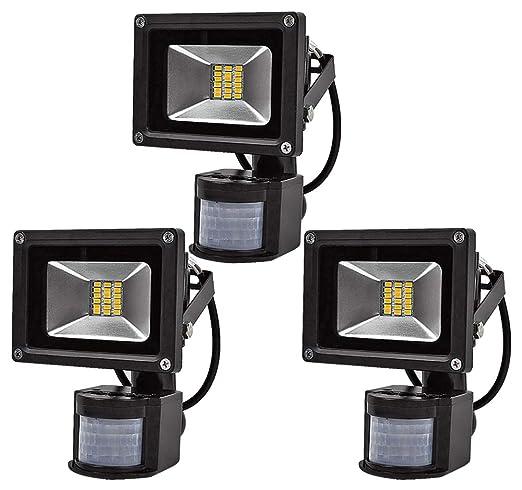 Leetop 3X SMD 20W luz de Inundación del LED Caliente Reflector Impermeable Blanco con Sensor de