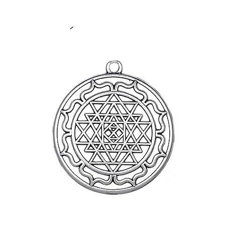 Mandala Chakra 3Rd Eye Hindu Amuleto Diosa Yoga Sri Yantra ...
