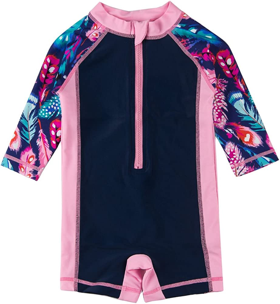 Sun Protection Long Sleeve One Piece Swimsuit with Zipper BONVERANO Baby Boys Sunsuit UPF 50