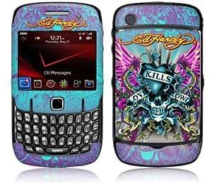 MusicSkins, MS-EDHY30044, Ed Hardy - Love Kills , BlackBerry Curve (8520/8530), Skin