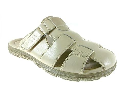 Amazon Com Majestic Men S 72315 Ice Closed Toe Slip On Sandals
