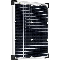 Offgridtec - Módulo solar monocristalino (20 W, 36 V, ideal para carga de batería de 12 V y 24 V)