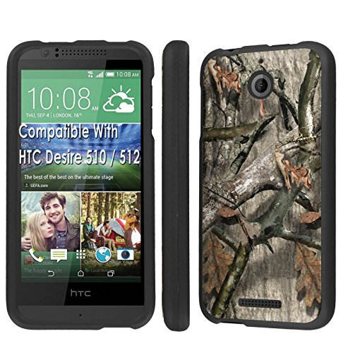 Case, [NakedShield] [Black] Total Armor Protection Case - [Hunter Tree] for Htc Desire 510 / 512 ()