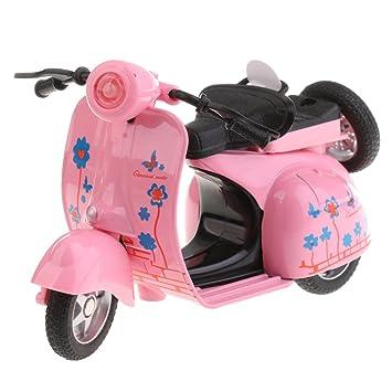 Sharplace 1:14 Juguetes Modelo de Coche de Moto de Aleación Tire hacia Atrás Regalo para Niños - Rosado: Amazon.es: Juguetes y juegos
