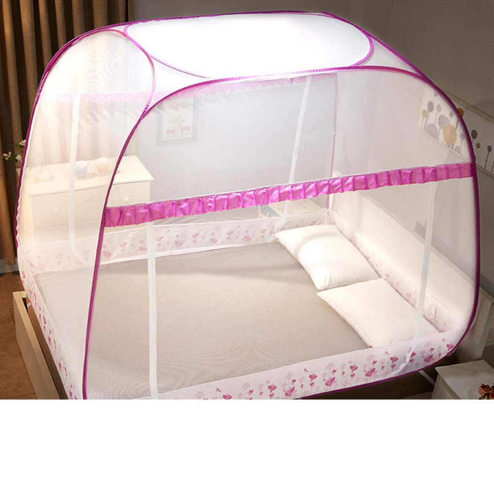 Foldable Encryption Princess Style Full Bottom Large Tent for Outdoor Or Indoor-a X-Long Twin Pop Up Mosquito Bug Net