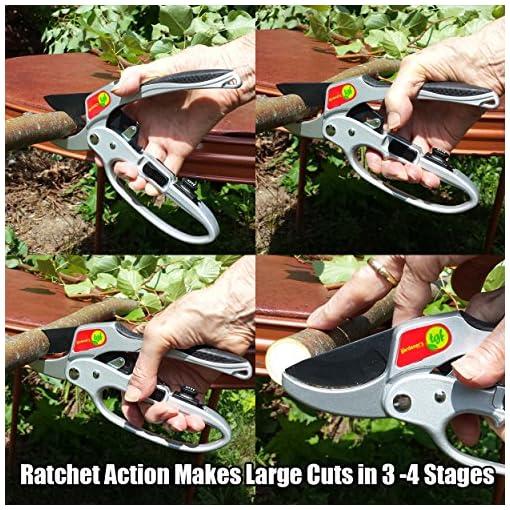 The Gardener/'s Friend Pruners Ratchet Pruning Shears,Garden Tool,for Weak Hands