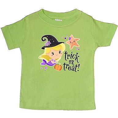 inktastic Trick or Treat Mermaid Witch Hat Pumpkin Baby T-Shirt