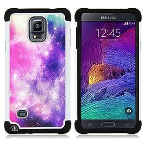 /Skull Market/ - Nebula Space Best Love For Samsung Galaxy Note 4 SM-N910 N910 - 3in1 h????brido prueba de choques de impacto resistente goma Combo pesada cubierta de la caja protec -