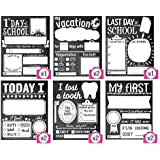 Sticky Bellies School Milestones Signs - Box Set of 10 - First Day of School Sign Plus Bonus Cards