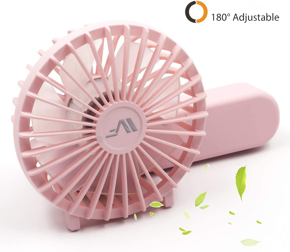 Portable Mini Fan Handheld Personal Fan Home Office Desk Speed Adjustable USB Rechargeable Eyelash Fan Air Cooler Outdoor Travel,Pink 1,China