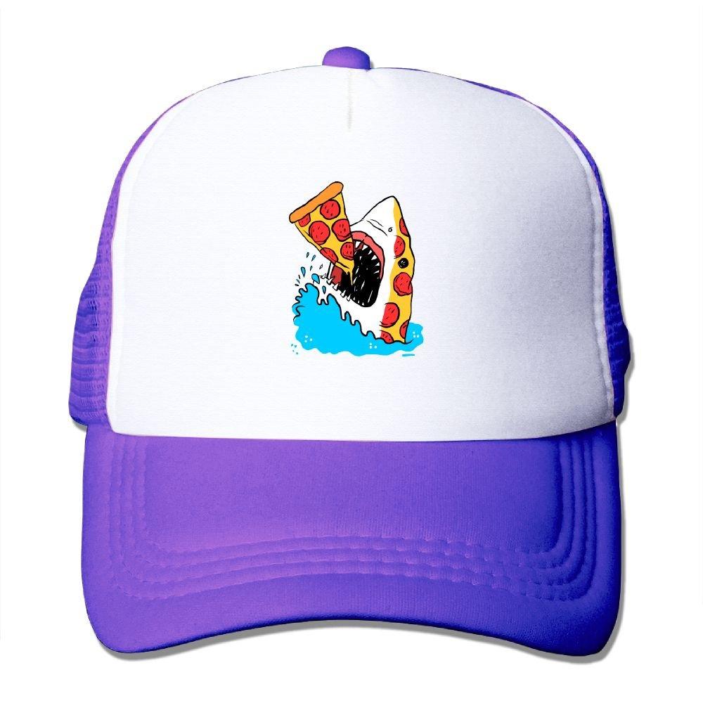 Pepperoni Pizza Shark Food Foodie Sea Ocean Mesh Baseball Cap Adult Adjustable Trucker Hat for Men Women