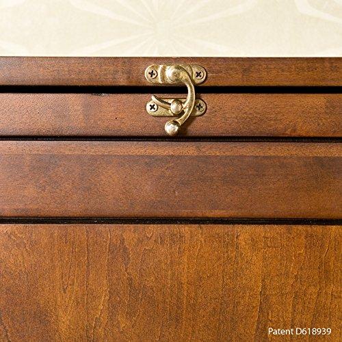 037732092904 - Fold-Out Convertible Desk - Walnut carousel main 2