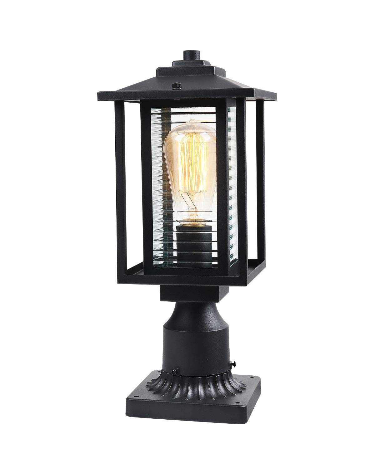 JAZAVA Outdoor Post Light Fixture One-Light