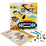 Costruzione in Mattoni Toy Set Mosaico Costruzioni di Puzzle Giocattoli Costruzione in Mattoni Toy Set per Bambini da 4 Anni in su, 420 Pezzi