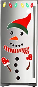 25 Pieces Reflective Christmas Magnets Refrigerator Decorations, Snowman and Holiday Lights Magnet Set for Fridge, Metal Door, Garage, Office Cabinets