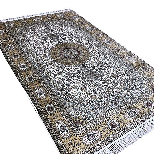 Camel Carpet Traditional Hand Knotted Persian Silk Area Rugs ()