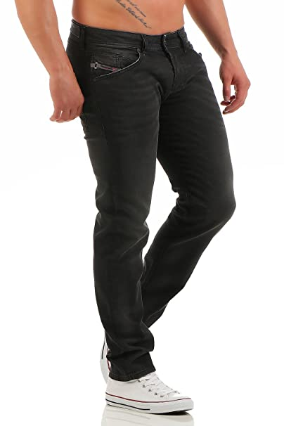 Diesel Hombre Belther 0822R Regular Slim Tapered Jeans ...