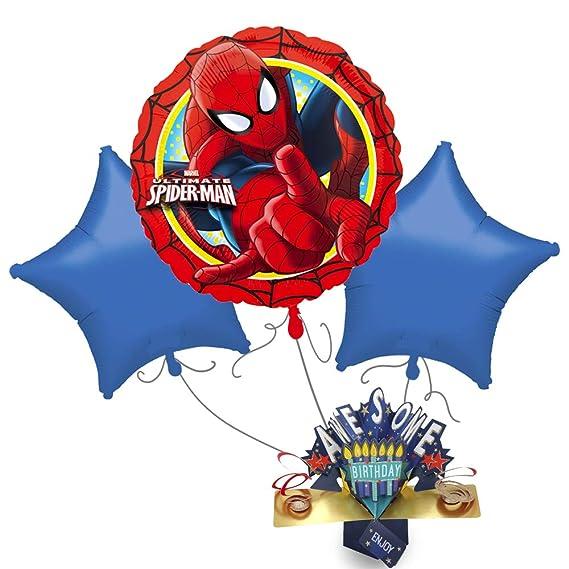 bakerdays - Ramo de Globos de Spiderman: Amazon.es: Juguetes y juegos