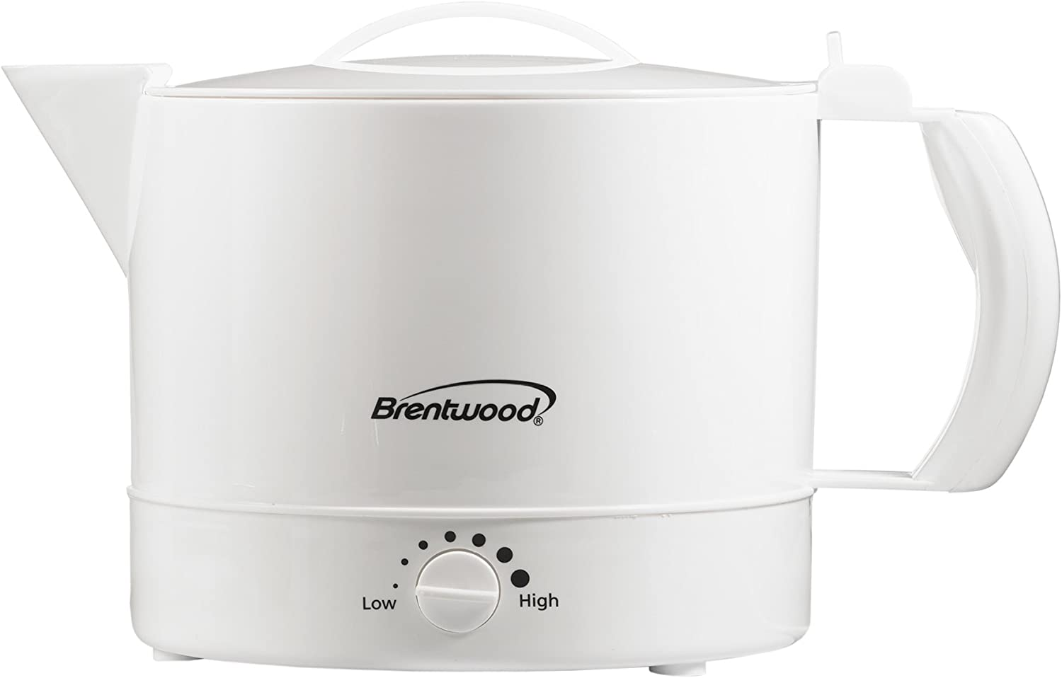 Brentwood KT-32W Electric Kettle Hot Pot BPA Free, 32 oz, White