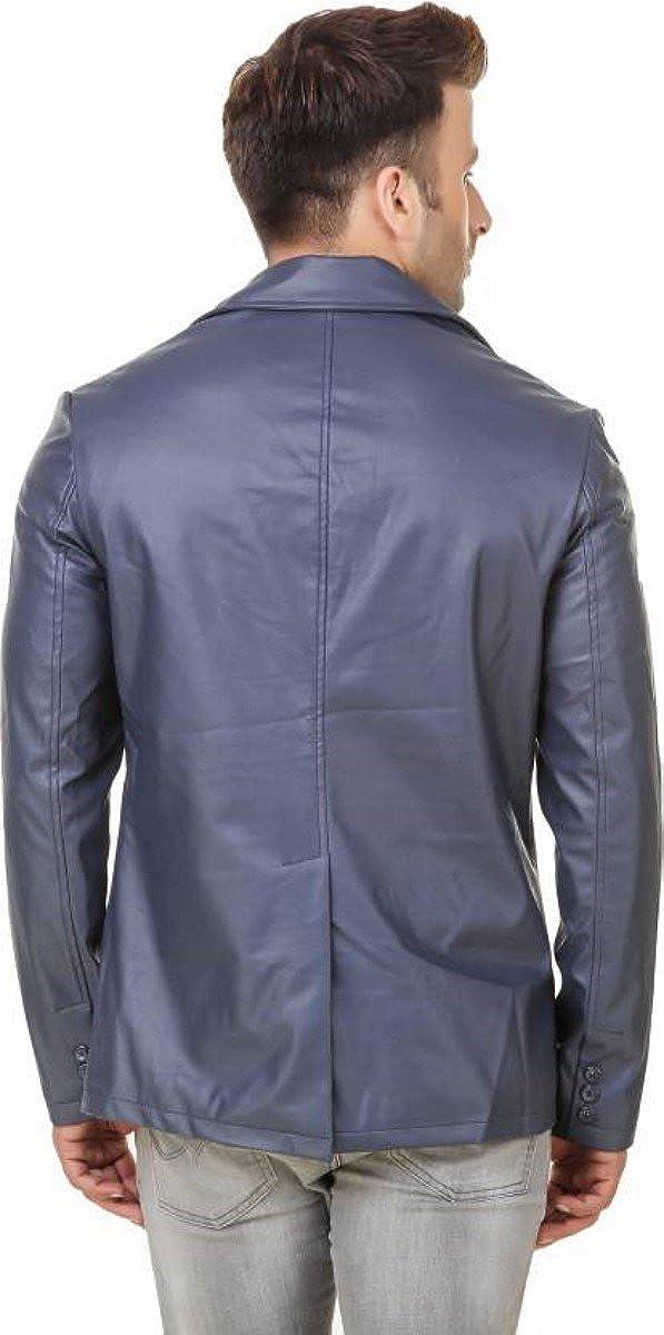 Travel Hide Mens Leather Blazer Two Button Genuine Lambskin Blazer Coat TB027