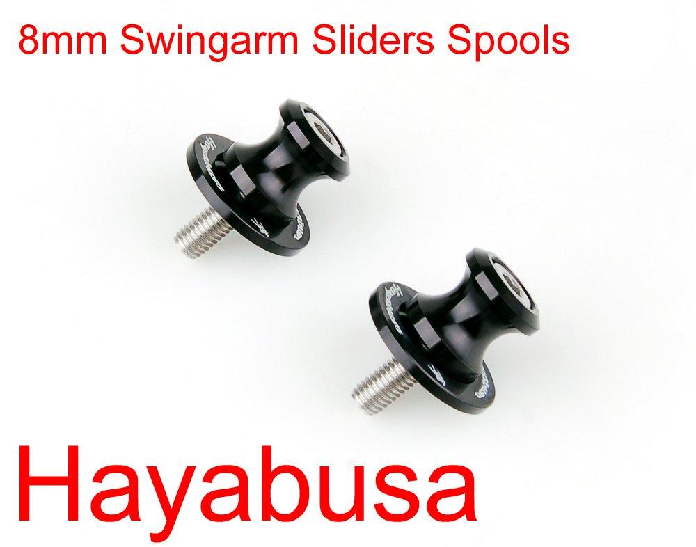 Areyourshop 8mm Swingarm Sliders Spools For Suzuki Hayabusa GSXR1300 1997-2011 2009 2010