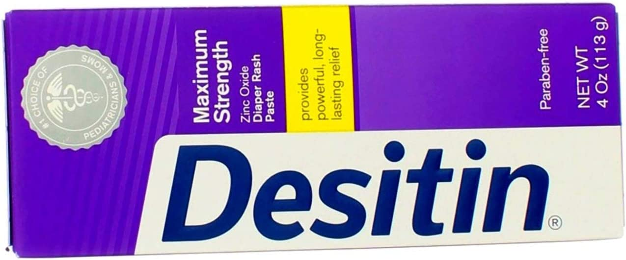 DESITIN Maximum Strength Diaper Rash Paste 4 Ounce (Pack of 2)