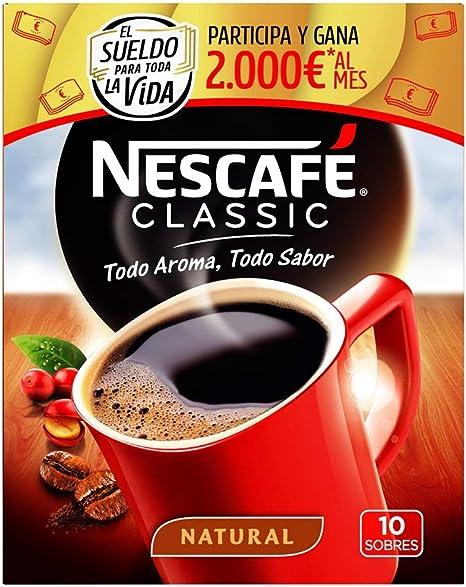 NESCAFÉ Café Classic Soluble Natural, Sobres, Paquete de
