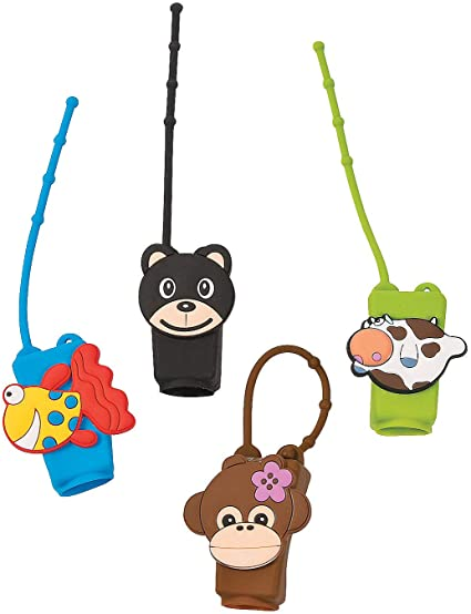 Amazon Com Fun Express Animal Hand Sanitizer Holders Apparel