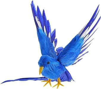WINOMO Pájaros artificiales con adorno de pájaros rojos