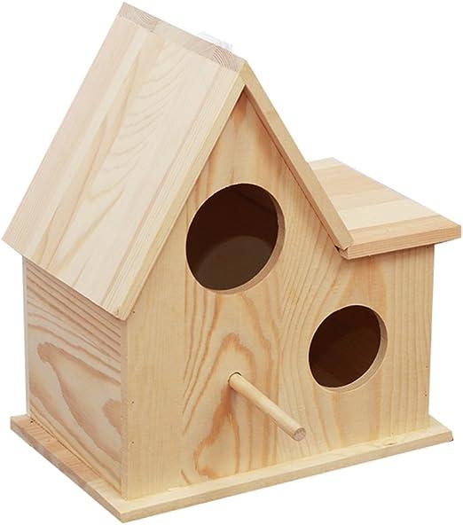 YKD Pine Wood Bird Breeding Nest Box