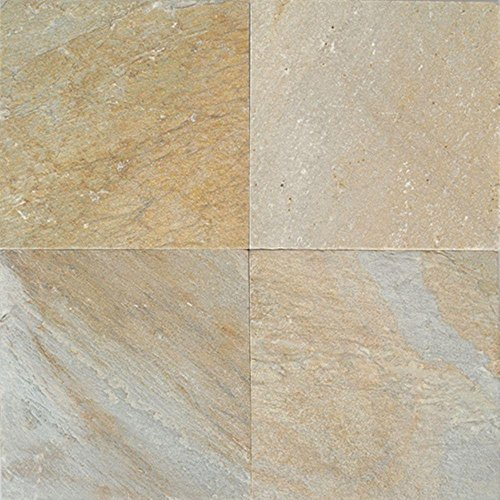 Natural Stone Collection Golden Sun 12 in. x 12 in. Slate Floor and Wall Tile (10 sq. ft. / case) ()