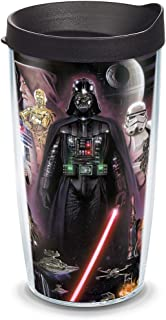 0a69830970a Tervis 1072646 Star Wars - Collage Tumbler with Wrap and Black Lid 16oz,  Clear