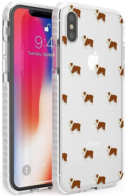 Bulldog Inglese Cane Modello Chiaro Impact Cover per iPhone XR TPU Protettivo Phone Leggero con Animale Domestico Guardare Attraverso Razza Animale