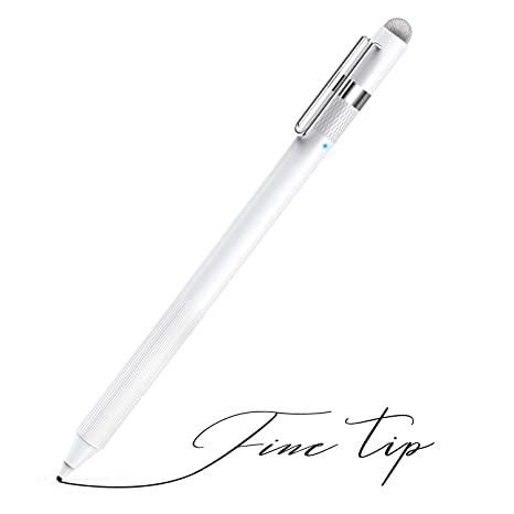 MEKO 1 6mm Fine Tip Active Digital Stylus Pen with Universal Fiber Tip  2-in-1 Perfect for Drawing and Handwriting Compatible with Apple iPad  iPhone