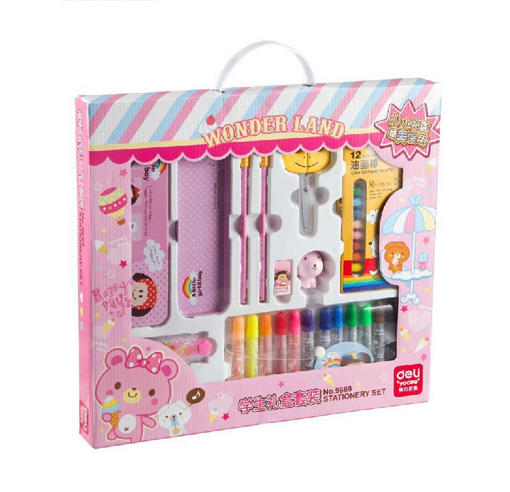 My First Draw Set Girls Painting Supplies Water Color Pen & Oil Painting Stick