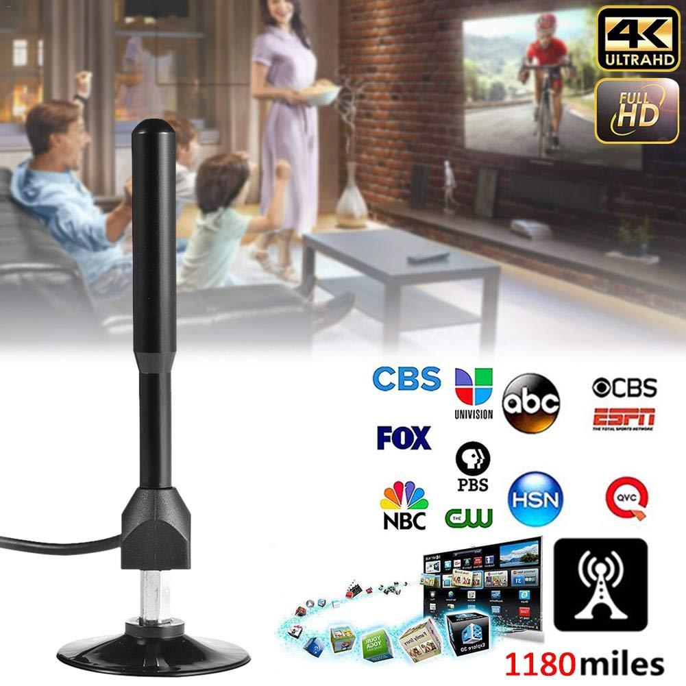 Antena De TV Digital De Alta Definici/ón La Nueva Antena Amplificada Digital Multifuncional De Interior 4K Puede Admitir Un Rango De 1180 Millas