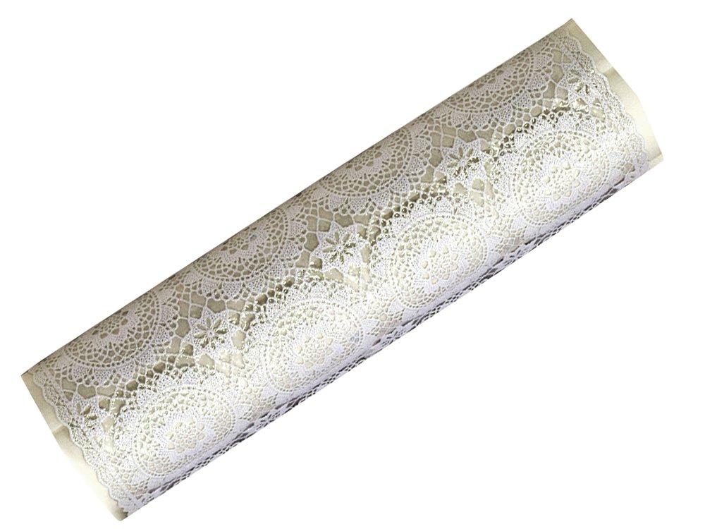 富双合成 テーブルクロス FGラミネートレース(狭幅) 40cm幅X20m巻 ホワイト(透明表貼り) L3053  L3053 B06XZZTQ9K