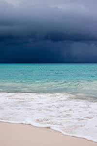 Gifts Delight Laminated 24x36 inches Poster: Beach Blue Caribbean Clouds Cloudscape Danger Dark Hurricane Monsoon Ocean Rain Sand Sea Shore Sky Tropical Storm Water Waves Weather