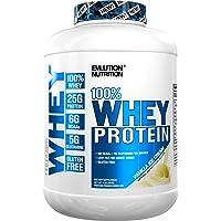 Evlution Nutrition 100% Whey Protein, 25g of Whey Protein, 6g of BCAA's, 5g of Glutamine, Gluten Free Vanilla Ice Cream, 1.82 kg