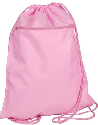 Amazon.com | Drawstring Backpack Bag Solid Pastel Pink ...