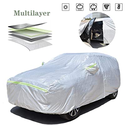 AOYMEI Full Car Cover Waterproof All Weather, Automobile Cover Sunproof Rainproof Windproof Scratch Resistant Reflective Strips Cotton Inside (SUV, fit Length (161''-167'')): Automotive [5Bkhe1014768]