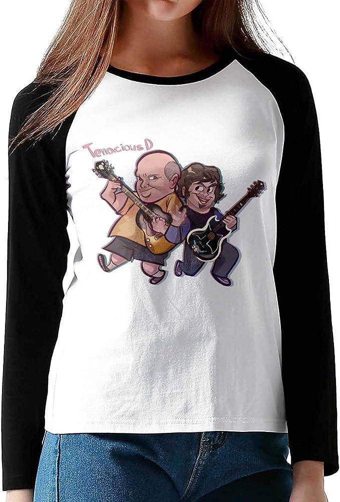 Tenacious D - Camiseta de algodón con Cuello Redondo y Manga Larga ...
